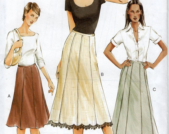 Free Us Ship Sewing Pattern Vogue 7735 Gored Skirt A-line Uncut 2003 Size 6 8 10 Bust 30.5 31.5 34 Out of Print