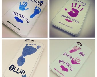 Personalised Handprint / Footprint / Pawprint / Child's drawing /handwriting  smartphone / iPhone Case