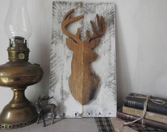Pallet wall art deer 3D