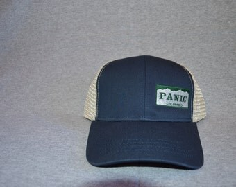 """Colorado Widespread """"Panic"""" on Pacific Blue Trucker Hat w/ Oyster Mesh"""