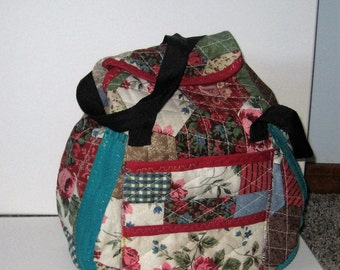 Convertible Quilted Lunch Bag