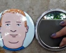 Bobby Hill King of the Hill That Boy Ain't Right 2.25 inch 58MM purse pocket hand button mirror