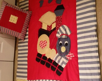 baby quilt and pillow