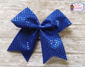 Blue Cheer Hair Bows, Blue Bling Cheer Bows, Cheer Hair Bows, Blue Hair Bows, Big Blue Hair Bows,Big Bling Blue Cheer Hair Bows.