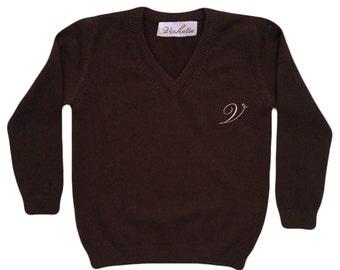 Virkotie CHOCOLATE 100% Cashmere Sweater