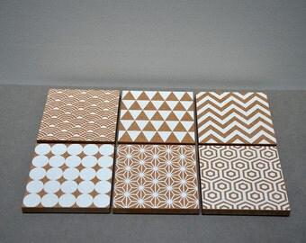 Wood coasters recycled / reclaimed wood coasters