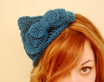 A Jaunty Little Bow ~ 1930's Vintage-inspired Knitting Pattern PDF~