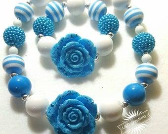 Very Blue kids chunky jewelry set