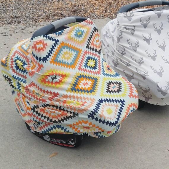 Navajo Aztec Tribal Serape Car Seat Cover Nursing Cover