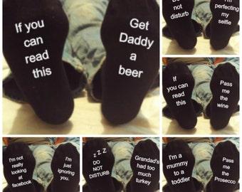 Novelty socks, gift for him, gift for her, funny socks,novelty socks, dad, You CAN CUSTOM THESE, Christmas gift, stocking filler