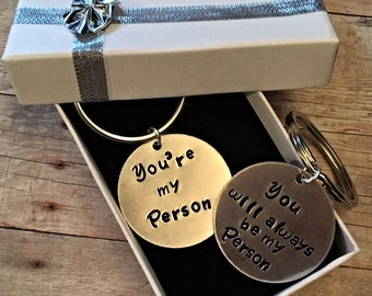 You're my person love key chain set