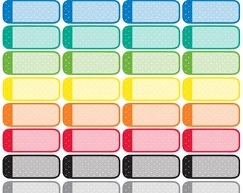Colored Dots Quarter Box Stickers
