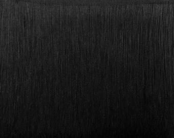 "20""LONG FRINGE Black Chainette Fringe"