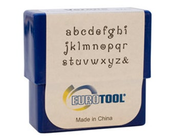 Verona Alphabet Stamp Set, Lower Case, 2mm, 27 Piece Set | PUN-730.00