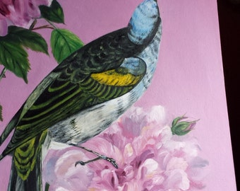 Bird with Flower 1
