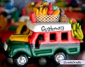 Handmade Guatemalan Clay Buses