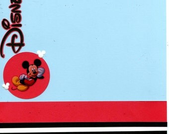 8x8 Premade Disney  Scrapbook Page