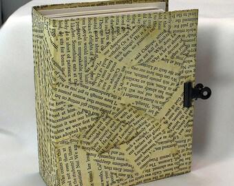 Handmade Art Journal Small - Mixed Media Journal - Art journal with pockets - Book Journal - Small Mixed Media Journal - Mixed Media Book