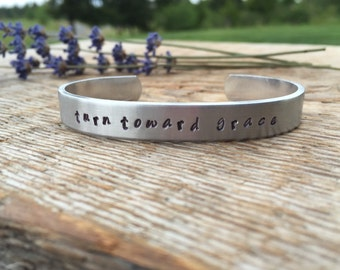 Turn toward grace bracelet