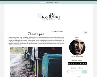 Simple Blogger Template – Nice Blog (light blue edition)