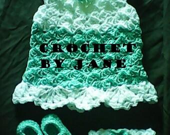 0-3 mo baby crochet dress sets