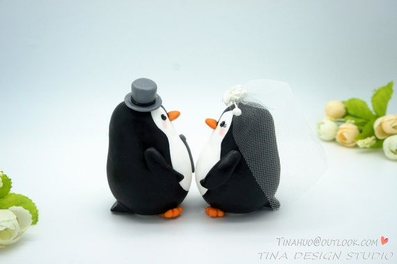 Unique Penguin Wedding Cake Toppers - Wedding Flowers, decoration ...