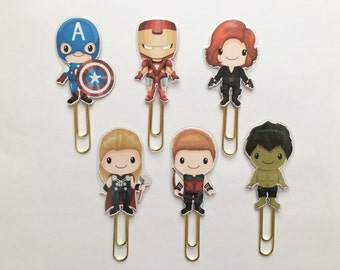 Fairy Tale Avenger Heroes Double Sided Planner Clip - Made to Order