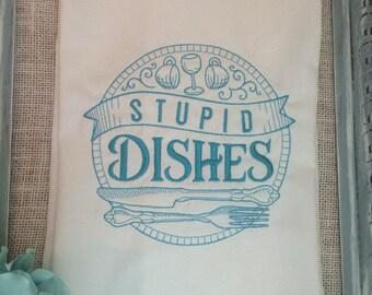 Large Flour Sack Kitchen Towel-cute saying