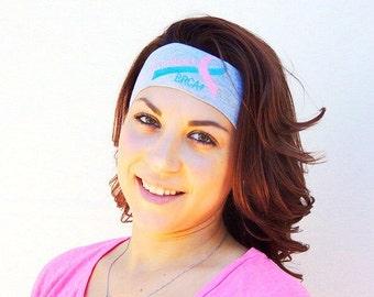 Previvor BRCA1 BRCA2 fashion embroidered headband,ovarian cancer,uterine cancer,breast cancer, brca mutation, previvor cancer, brca+, boho