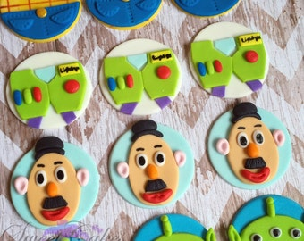 Fondant Toy Story inspired cupcake toppers