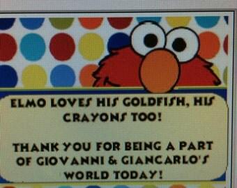Elmo Thank you Cards (12)