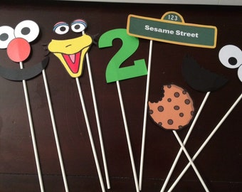 Sesame Street Photo Props