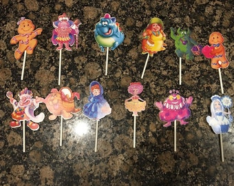 Candyland Cupcake Toppers (12)