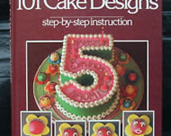 FREE SHIPPING, 101 Cake Designs,  Mary Ford Cake Designs, Cake Designs, Mary Ford Hardback, Baking,  Hardcover Books, Vintage Books