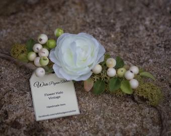 Flower halo, flower crown, head wreath,  photo props, child wreath, vintage, romantic