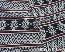Bohemian Fabric Ethnic Fabric Geometric Pop Fabric Tribal Fabric Aztec Fabric Hand Woven fabric - half (1/2) yard (BHI_003)