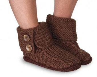 Cozy Handknitted Boot Slippers