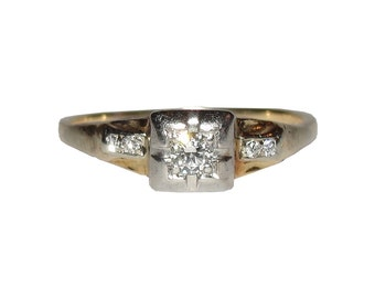 Victorian Old Brilliant Cut Diamond Ring