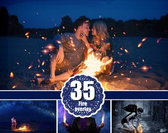 35 fire photo Overlays, photoshop overlay, flamers, fire sparks, night, lighter effect, flame night Overlays, jpg  file