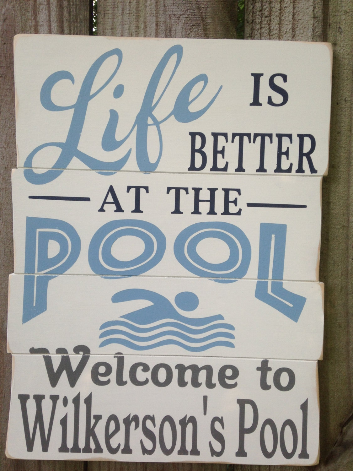 personalized life is better at the pool wood pool pool decor pool