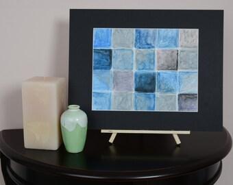 Tile Blue and Black #1