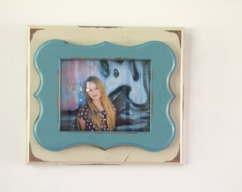 Rustic, distressed, funky 8x10 picture frame