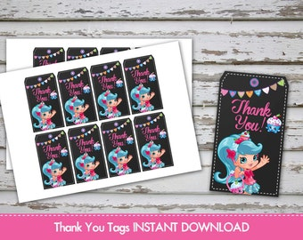 Sale! Shopkins Shoppies Thank you Tags Shopkins Favour Labels Shopkins Thank You Labels Shopkins Treat Bags Tags INSTANT DOWNLOAD