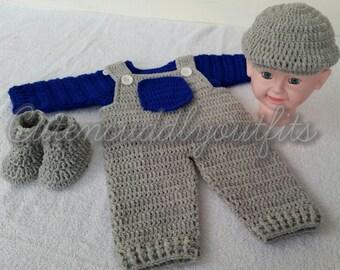 Crochet Pattern, baby crochet pattern, Crochet baby hat, Crochet shoes, Crochet baby boy patterns, Crochet patterns, Crochet newborn hat,