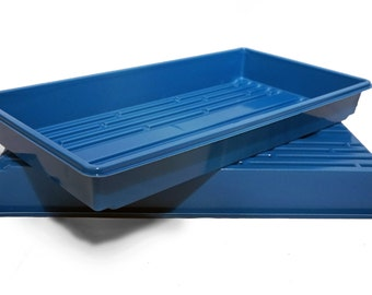1020 Blue Heavy Duty Growing Trays, for wheatgrass, microgreens and more