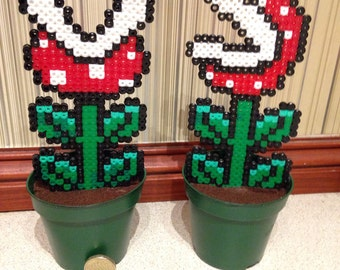 Super Mario potted piranha plants
