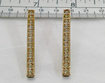 Vintage Signed SARAH COVENTRY Gold Tone Rhinestone Earrings