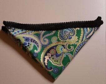 Handkerchief, Pocket Square, Handkerchief with Signature Trim