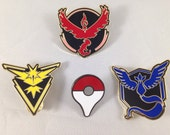 Pokemon Team Valor Mystic Instinct Pokeball Point Metal Pin Set In Black GO