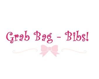 mystery bib grab bag, surprise bib grab bag, baby girl grab bag, baby boy grab bag, bandana bib grab bag